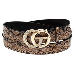 🆕 Vegan Leather Snake Print Belt